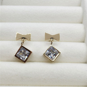 Designer Design Simple Love Glitter Earrings New Fashion Rose Gold Plated All with Female Single Diamond Earrings