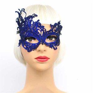 Face Party Sexy Bronceing Lace Colorido Half Wedding Mask Clubes de baile de moda Rendimiento Carnaval Mascarada Máscaras