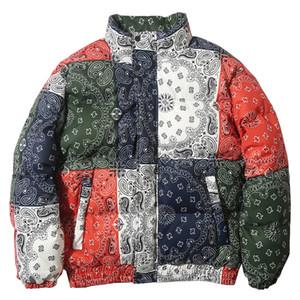 Aolamegs Retro Plaid Print Zipper Winter Jacket Men Casual Harajuku All-match Warm Parka Jackets Coats Fashion Couple Streetwear Y1112