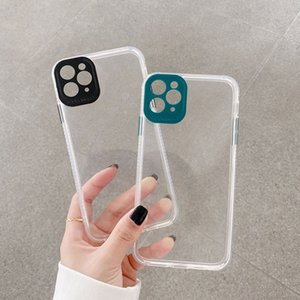 Transparent Phone Case For iPhone 12 mini 12 11 Pro MAX XS XR XS MAX 7 8 Plus Lens Camera Protection Shockproof Cover
