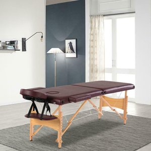 Foldable Massage Table Facial SPA Bed Chair with Free Carry Case Wine Red