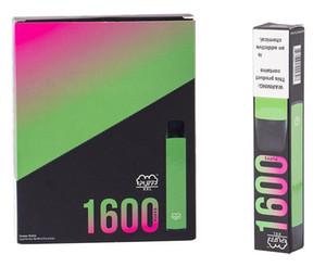 2021 Newest Puff XXL 1600 Puffs Dispositivo vape desechable Dispositivo de vape Siguera Kits Vacío Vaporizador desechable VS Puff Bar Plus Max
