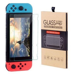 For Nintendo Switch Tempered Glass Screen Protector Film 2.5D 9H Premium 2 Pack With Retail Package