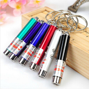 Laser funny cat stick New Cool 2 In1 Red Laser Pointer Pen With White LED Light Childrens Play DOG Toy Random Color