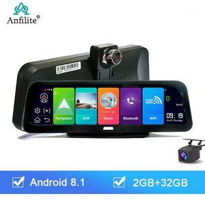 Anfilite da 10 pollici 4G ADAS Auto Dash CAM Dual Lens Android 8.1 2 + 32g Car DVR Camera GPS Navigator 1080P Recorder Parcheggio Monitor1