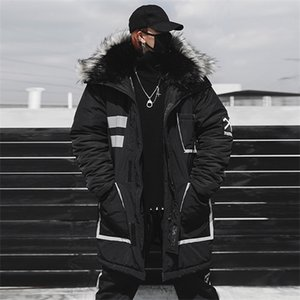 April MOMO 2020 Men Thick Warm Cotton Hip Hop Jackets Coats Parkas Male Casual Fashion Loose Style Hooded Jackets Streetwear Y1112