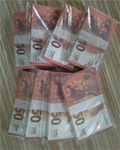 Wholesale dinheiro falsa adereços adereços jogar lde9-5 dinheiro 100 pcs / pack 50 barra de boate falso dinheiro filme quente euro atmosfera wrkpl freuw