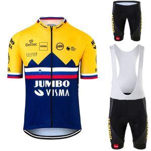 2020 Jumbo Visma Ciclismo Jersey Set Eslovénia Campeão Ciclismo Roupa Rogic Road Bike Camisas Race Suit Bicycle Shorts Maillot C0123