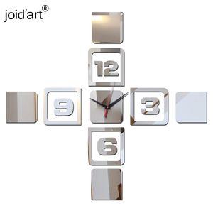 Hot Sale New Wall Stickers Clock Clocks Horloge Watch Living Room Home Decoration Diy 3d Acrylic Mirror Quartz Modern