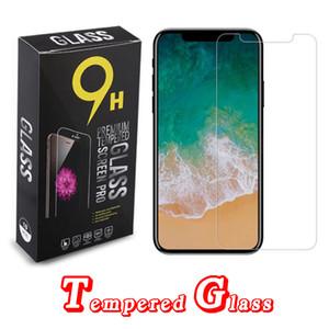 Защитный экран для iPhone 12 11 PRO XS MAX XR Закаленные стекла Protectors пленки 0,33 мм с бумажной коробкой