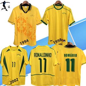 1994 1998 Brazi l Ana Sayfa Futbol Formaları 02 04 Brali Retro Klasik Gömlek Carlos Romario Ronaldo Ronaldinho R. Carlos Jersey Camisa de Futebol