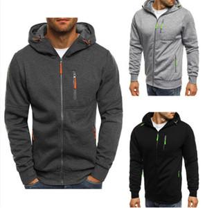 Hoodies Men 2018 Fashion Hoodies  Men Personality Zipper Sweatshirt Male Hoody Tracksuit Hip Hop Autumn Winter Hoodie Mens