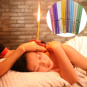 8 Colors Therapy Ear Candle Aromatherapy Bee Wax Auricular Therapy Ear Candle Coning Tapered Ear Care Candle Sticks