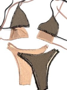20ss İtalyan Bikini İlkbahar Yaz Yeni Pijama Iç Çamaşırı Çift Mektuplar Bayan Mayo Yüksek Kaliteli Bikini Jakarlı Tops
