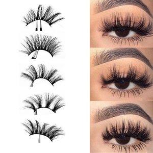 5Pairs Natural Long Thick Black False Eyelashes Charming Eye Lashes Makeup False Eyelashes Extension Beauty Makeup Tools