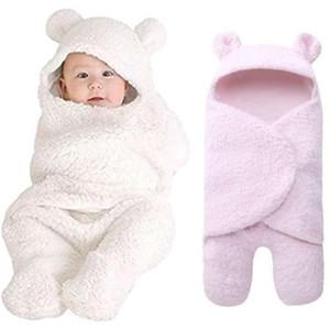 Hot 2020 Newborn Baby Boy Girl Swaddle Sleeping Wrap Plush Cotton Sleepwear Blanket Photo Prop New