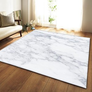 Nordic 3D Marble Pattern Carpets Soft Flannel Area Rugs Parlor Table Anti-slip Bedroom Bedside Mat Living Room Large Carpet