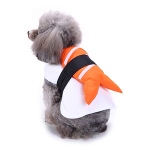 Funny Halloween Clothing For Dogs Winter Dog Clothes Sushi Cosplay Suit Cat Costume Pet Coat French Bulldog Jacket Xmas Outfit Y1124