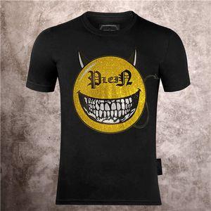 2021 새로운 3D 무거운 금속 두개골 얼굴 T 셔츠 축제 록 티셔츠 남자 인쇄 캐주얼 Tshirt O 목 힙합 짧은 소매 플러스 크기