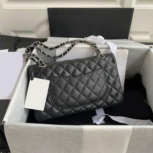Productos personalizados de gama alta elegante caviar bolsa de cuero solapa El mostrador se actualiza sincrónicamente A01112 Diamante Bags Bolsas contratadas