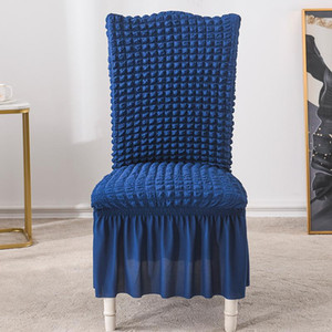 1 2 4 6 Pcs Jacquard Plain Dining Chair Cover Spandex Elastic Chair Slipcover Case Stretch Cover for Wedding Hotel Banquet