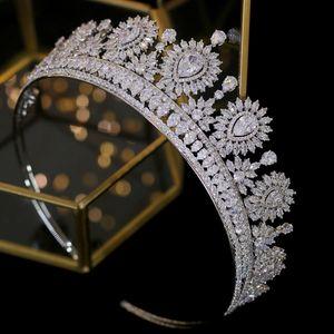 New Baroque fashion bridal tiara crown party crystal headdress wedding hair accessories headband Y200807