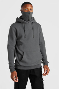 Solid Color Stand Collar Sweatshirts Fashion Casual Warm Pullovers For Men Autumn Winter Mens Designer Hoodies Zipper