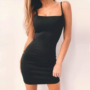 Sexy Dress For Elegant Lady Size S XL Bodycon Black White Dress Off Shoulder Backless Womens Slip Dresses For Evening Party