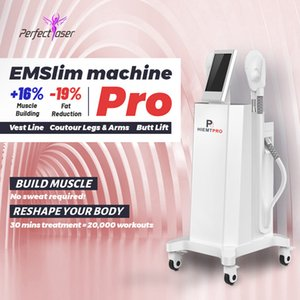 Precio de fábrica Embalaje Máquina de quema de grasa Belleza electromagnética construir músculo grasa fusión máquina de fusión adelgazante dispositivo CE FDA aprobado