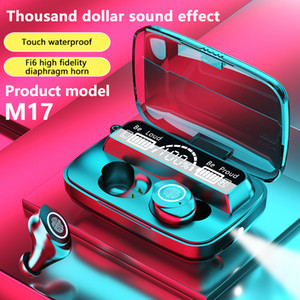 TWS Bluetooth Écouteurs V5.1 Écouteurs stéréo Écouteurs Bluetooth sans fil M17 Headsfons intra-auriculaires pour tous les oreillettes imperméables de téléphone intelligent