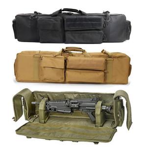 Военный Airsoft Gun сумка Double Rifle Рюкзак для M249 M16 AR15 стрелковая сумка Охотничий карабин пистолет для переноски Защита сумка Q1117