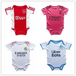 NCAA 2020 2021 Bambini Baby Soccer Jersey Boy Neonato Unisex Abbigliamento Pagliaccetto Pagliaccetto Real Madrid Ajax Jerseys Jerseys Olympique de Marseille OM