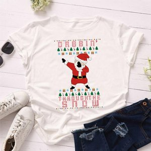 Fashion Women T Shirt Hip Hop Santa Claus New Year Merry Tee Shirt Christmas Tumblr Graphic T Female Tees Camisa