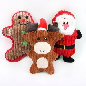Toy Toys Toys Щенок милый мультфильм звукоистовые игрушки домашние животные рождественские моляр плюшевые куклы щенка Santa снеговика подарки owd3074