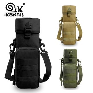 IKSNAIL Travel Outdoors Water Bottle Pouch Tactical Gear Kettle Waist Sport Shoulder Bag For Army Climbing Camping Hiking Bags