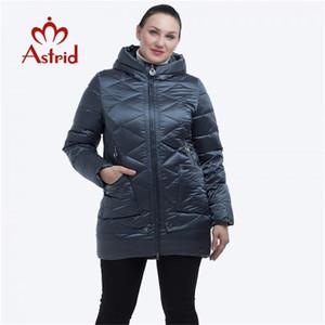 Astrid Kalın Rüzgar Geçirmez Sıcak Kapüşonlu Ceket Yüksek Kaliteli Pamuk Kış Coat Kadınlar FR-2229 Y201012