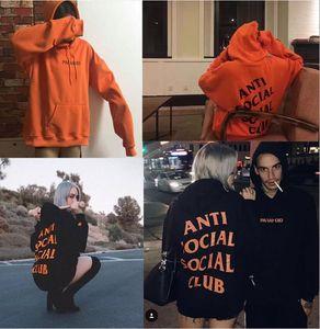 2021 SS Sosyal Sosyal Kulübü Kazak Hoodie Anti Social Club Kapüşonlu / Kanye Tişörtü