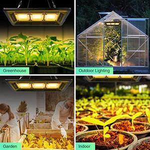 450W Square full spectrum Led Grow Light black High Efficiency COB Technology Waterproof Grow lights CE FCC ROHS wholesale