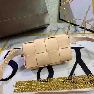 Unisex Shoulder Bag High Quality Lady Knitting Waist Bags Fashion Men Plain Handbag Womens Crossbody Bag 3 Colors