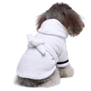 Pet Dog Bathrob Dog Pajamas Sleeping Clothes Soft Pet Bath Drying Towel Clothes for for Puppy Dogs Cats Pet Accessories