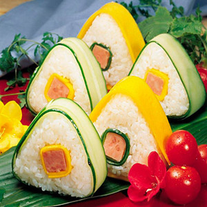 Triangle Sushi Moule NOUVEAU BALLE DE RICE D'ORIGINE NICE PRESSE MABRICER CUISINE TOIN SUSHI FABRES OUTILS FWA2476