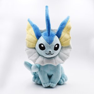 37cm Vaporeon Plush Toy Eevee Plush Doll Soft toy Classic Plush Hot Toys Christmas Gifts Baby Toys For Children Free Shipping LJ200808
