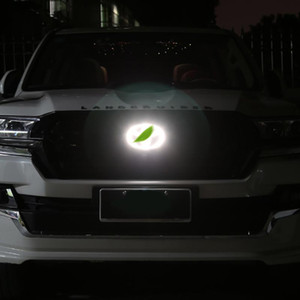 Bleu Redwhite Voiture Styling 4D Lampe froide LED Emblem Dynamic Logo Lumière pour Land Cruiser Prado FJ Cruiser fj