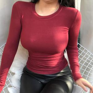 GGRIGHT sexy Basic Blouse New Womens Korean Fashion Blouse Womens Shirt Slim Women Long Sleeve Tops blouses woman 2019