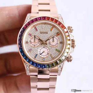 40mm stainless steel star diamond 6 stitch date waterproof belt diamond luxury best-selling men's watches