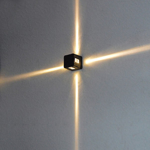 LED Cross Star Wall Lamp, IP65, Waterproof, Square, Night Lighting, Engineering Indoor Light Fixture BL-80
