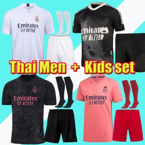 Hommes + Kit Kit Kit 20 21 Real Madrid Jersey Hazard Sergio Ramos Benzema Soccer Camiseta de Futbol 20 21 Vini JR Chemise de football de course humaine