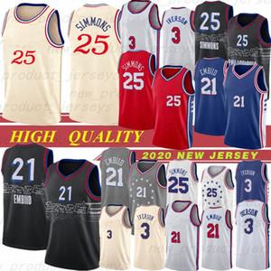 Philadelphia 76ers 25 Ben Simmons City 21 Joel Embiid 3 Allen Iverson Jersey NCAA 17 J.J. Redick Jerseys 20 Markelle Fultz Maillots de basket Hot 20
