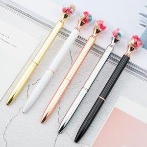 Toptan Kurutulmuş Çiçek Tükenmez Kalem Topu Kurutulmuş Çiçek Kalem Metal Tükenmez Kalem Iş Hediye Reklam Özel Logo