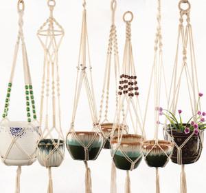 Appendiabiti piante intrecciata piantatore cestino cestino per sollevamento pianta flowerpot casa creativa giardino decorazione 11 disegni opzionali home decorzy61